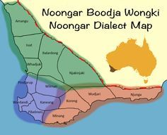 Noongar Dialects Map