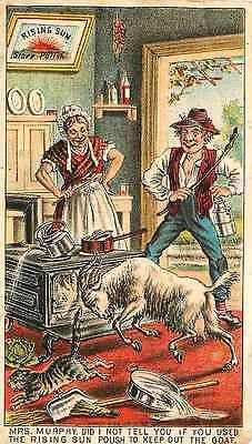 Victorian Advertising Trade Card Rising Sun Stove Polish 1890s Goat Bu – Moodys…