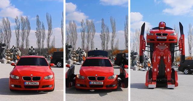 BMW DE VERDADE SE TORNA UM TRANSFORMER #transformer #carros #robo #bmw #cars #car