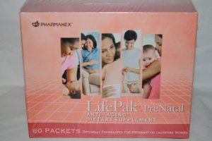 Pharmanex Lifepak Prenatal Dietary Supplement (60 Packets) by Pharmanex.Provides calcium and magnesium for comprehensive bone nutrition support. Provides safe, effective amounts of essential vitamins and minerals necessary for the general health and wellness of pregnant and lactating women nutrition support. upplies a comprehensive blend of nutrients to support a healthy cardiovascular system nutrition support. Provides inositol, important for normal hormone function.
