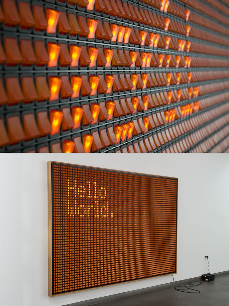 twodotfive: via http://ruhry.artfolder.net/untitled-hello-world.html 185 x 265 cm, 2011