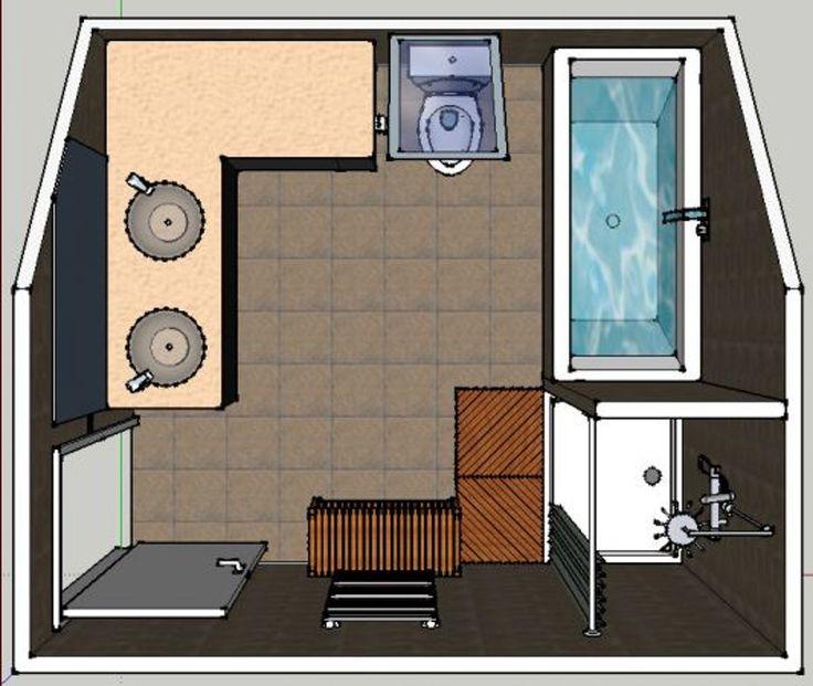Incroyable Plan Salle De Bain M Salle De Bain Sous Pente M - Plan salle de bain 5m2