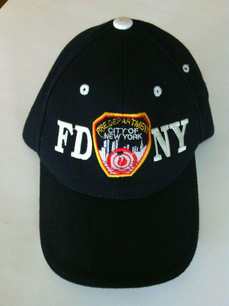 FDNY New York City Unisex Black White Baseball Cap Adjustable Fire Dept Hat Fit | eBay