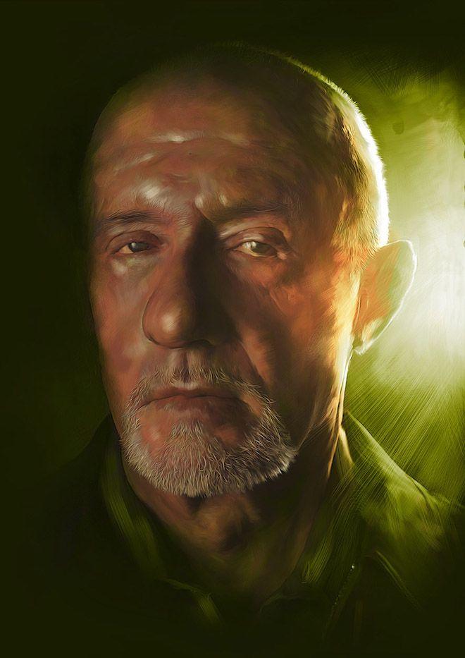 Digital portrait by Richard Davies #BreakingBad