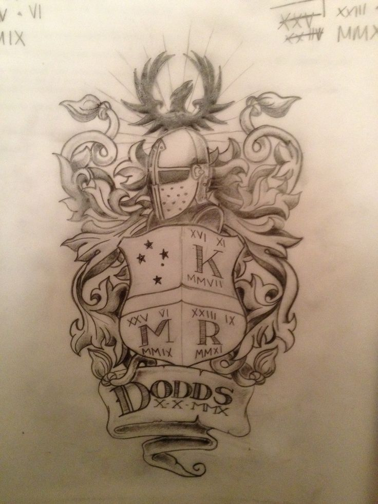 Dimas Reyes Family Crest Tattoo On Shoulder