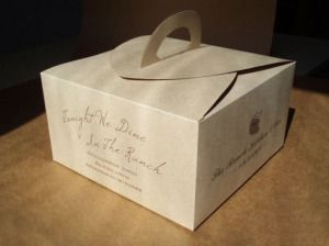 Kraft Paper Cake Box with Handle