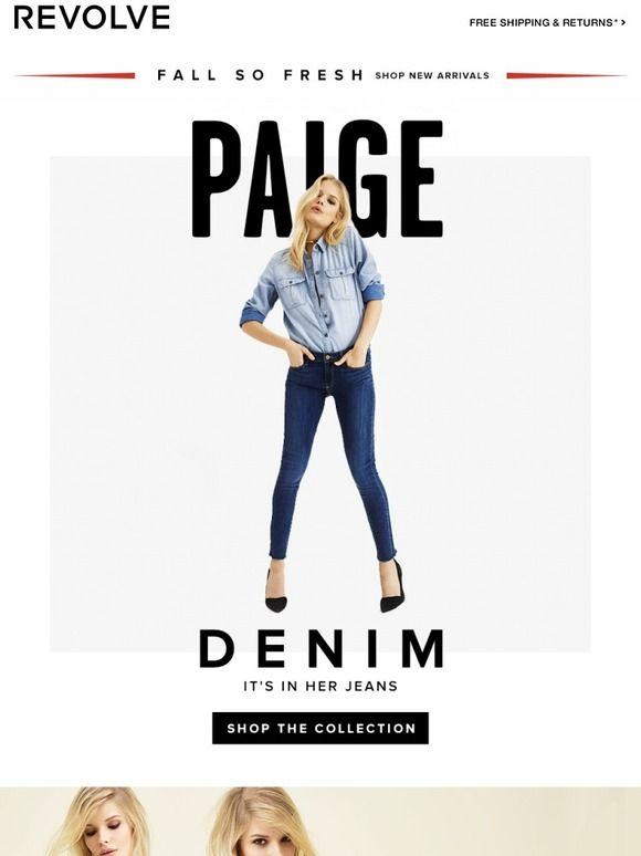 REVOLVE Paige Me Email Newsletter Design
