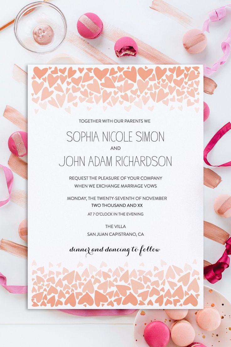 5315 best invitations paper images on pinterest for Free printable wedding invitations wedding chicks