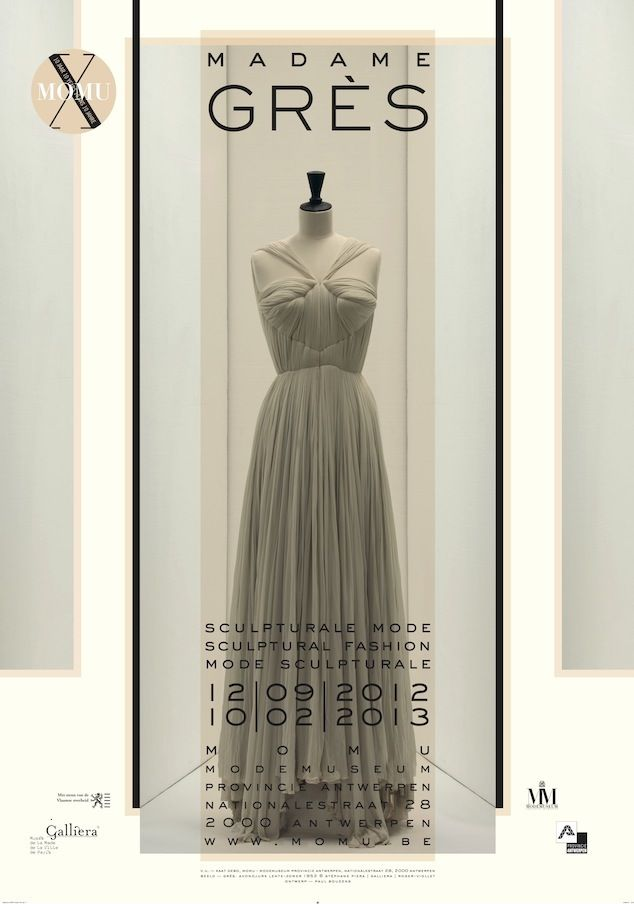 #Madame Grès. #Sculptural #Fashion. A wonderful exhibition at the #MoMu. #Antwerp, #Belgium.
