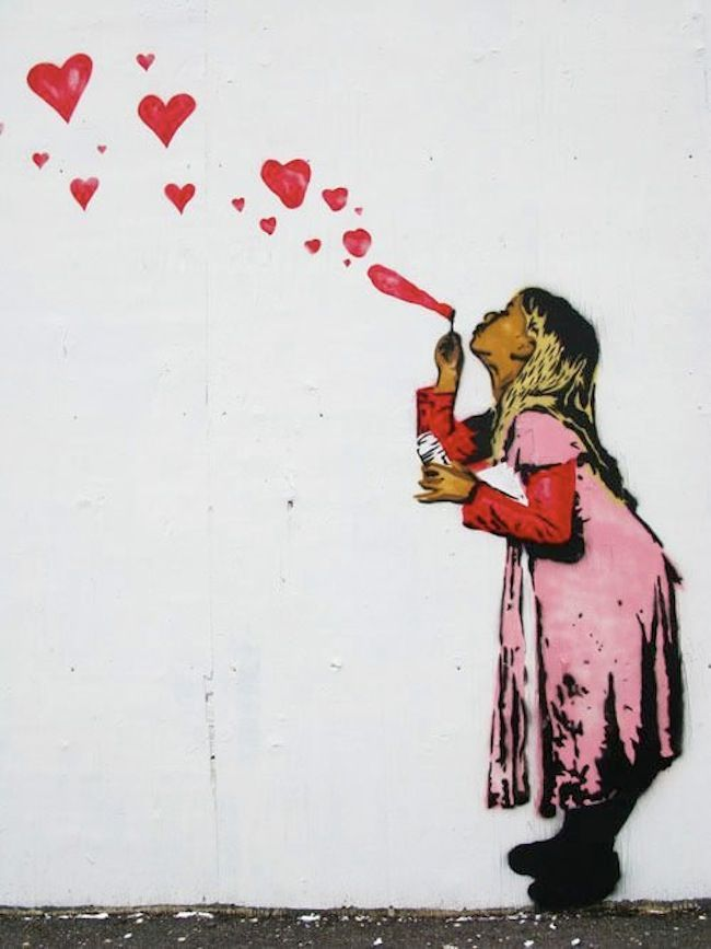 happy valentines day street art love