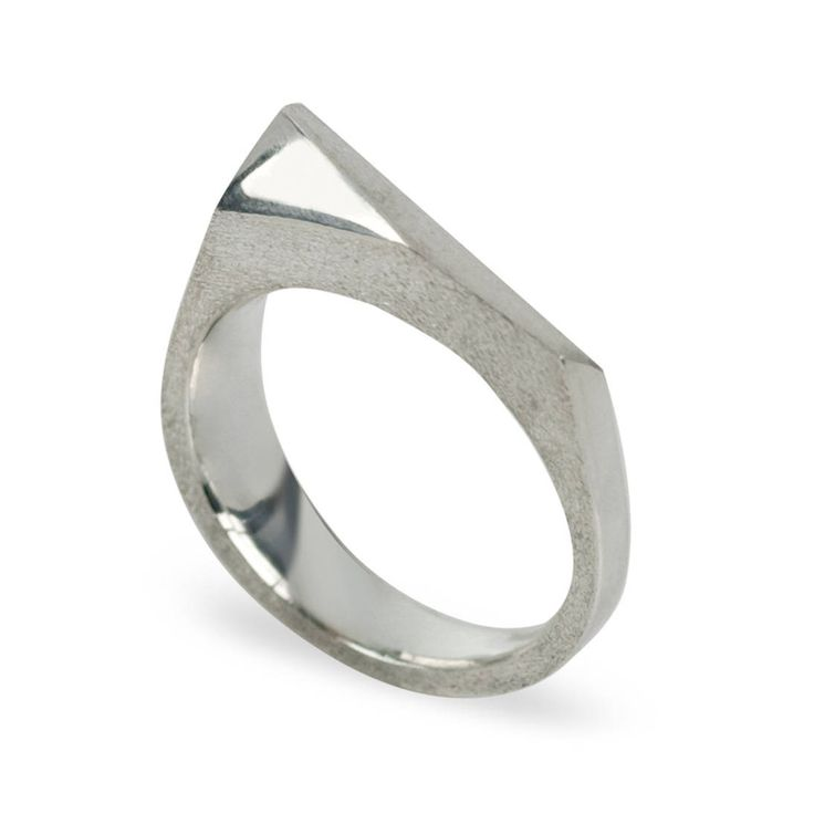 FOR THE GEM IN YOUR LIFE: This angular sterling silver ring was inspired by the latest architectural marvels built to house Toronto s artistic and historical treasures Wide portion the ring measures 5mm and tapers down to 2 5mm This ring is available in 14K gold starting at $1 100 CAD Contact us to custom design your very own