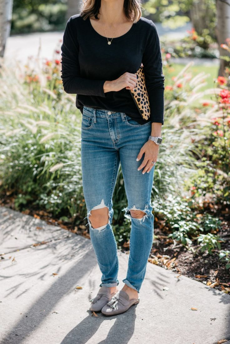 The 7 Pairs Of Jeans Every Woman Should Own - my kind of sweet | denim | casual style | distressed denim | mom jeans | outfit ideas