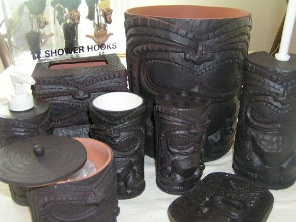 Tiki Hawaii Bathroom Accessories