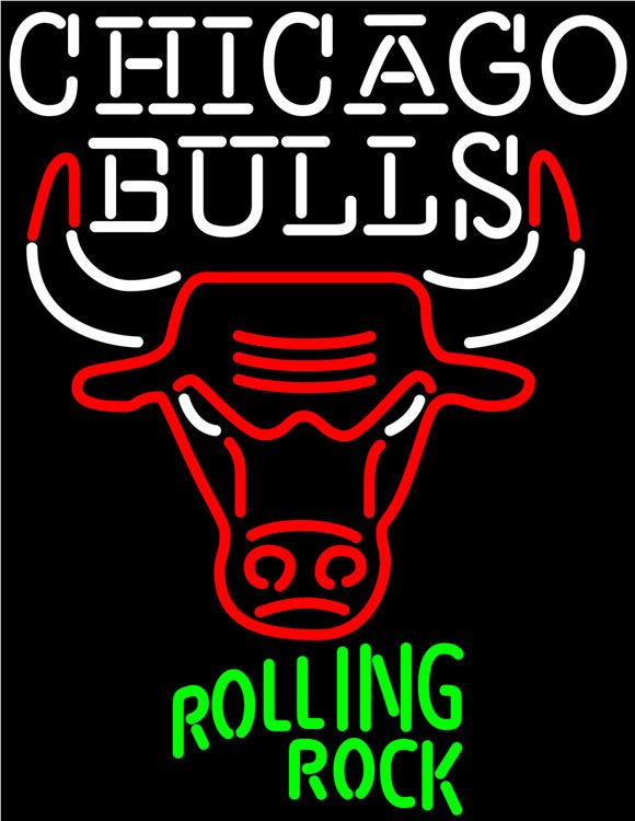 Rolling Rock Chicago Bulls NBA Neon Beer Sign, Rolling Rock with NBA Neon Signs | Beer with Sports Signs. Makes a great gift. High impact, eye catching, real glass tube neon sign. In stock. Ships in 5 days or less. Brand New Indoor Neon Sign. Neon Tube thickness is 9MM. All Neon Signs have 1 year warranty and 0% breakage guarantee.