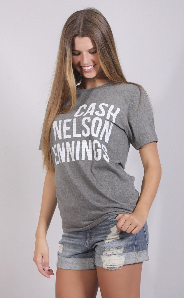 Place yourself among some of the greatest southern gentlemen in this t shirt.... Johnny Cash, Willie Nelson, Waylon Jennings.