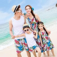 Family Matching Outfit Family Clothing Mother and Daughter Tank Bohemian Dress Father and Son Clothes Beach Clothing GS09 - On Trends Avenue