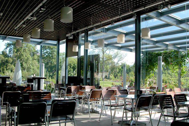 Terraza del Jardin Botanico Gijon por Ilione