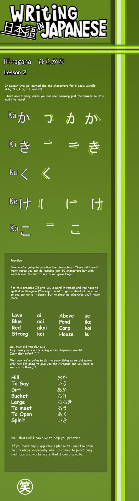 Writing Japanese- Lesson 2 by emm2341 on DeviantArt