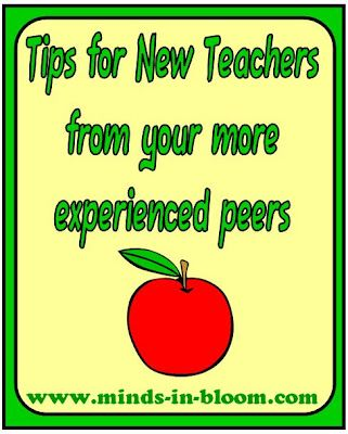 Advice for New Teachers   http://www.minds-in-bloom.com/2012/07/advice-for-new-teachers.html#