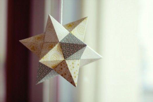 diy printable christmas star ornament christmas. Black Bedroom Furniture Sets. Home Design Ideas