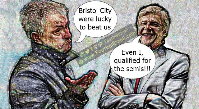 José Mourinho Claims Bristol City were Lucky to Beat Manchester United #Mourinho #BristolCity #Wenger #Guardiola #Conte #Klopp #ManUnited #Chelsea #EPL #ManchesterUnited #Lukaku #Liverpool #Arsenal #Spurs #Messi #Ronaldo #FCBarcelona #Jokes #Comic #Laughter #Laugh #Football #FootballDroll #Funny #CR7 #RealMadrid