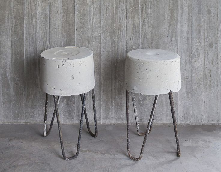 concrete stool (easy to make) by argentinian architects sebastian hoepner, javier agustín rojas and federico sartor