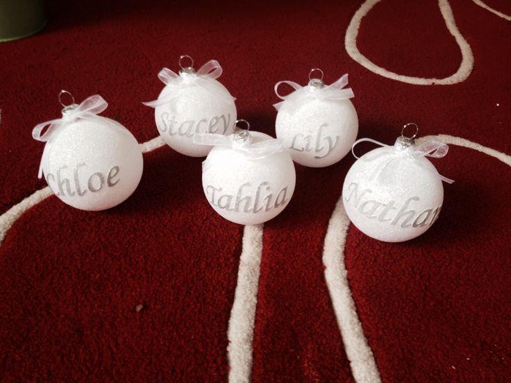 Personalised Christmas Baubles | DIY