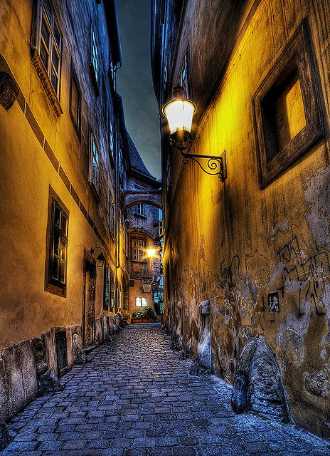 Beautiful alley, Griechengasse, Vienna, Austria