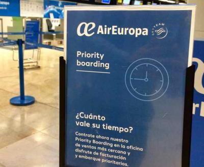 Air Europa lanza el check-in y embarque express en 21 aeropuertos