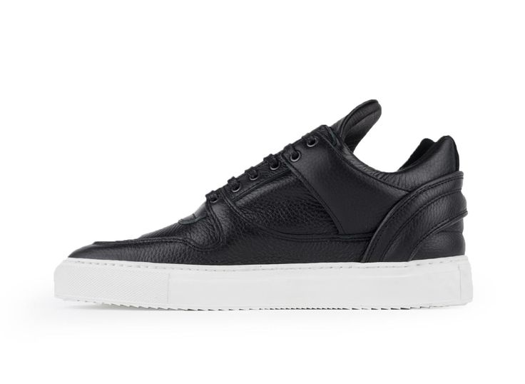 Filling Pieces Low Top Transformed Black Leather Shop here http://www.subtypestore.com/shop/filling-pieces-low-top-transformed-4/