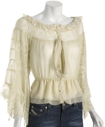 Pretty: 202905500 Ivory, Summer Fashion, Robert Rodriguez, Lace Peasant, Ivory Lace Blouses, Style 202905500, Rodriguez Ivory, Ivory Chiffon, Peasant Blouses