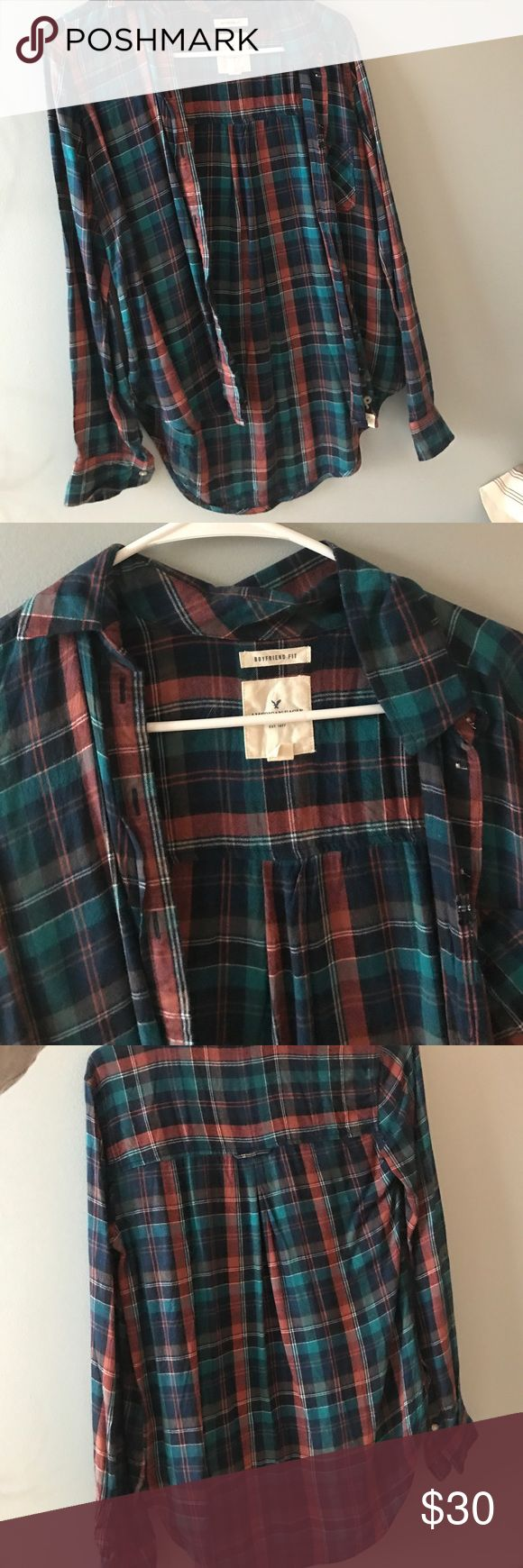 American Eagle Outfitters Flannel // Boyfriend Fit Perfect Condition American Eagle Outfitters Jackets & Coats
