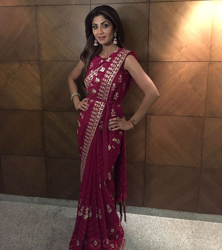 Shilpa Shetty Kundra rocks a belted sari from  EpicLove  12 October 2016