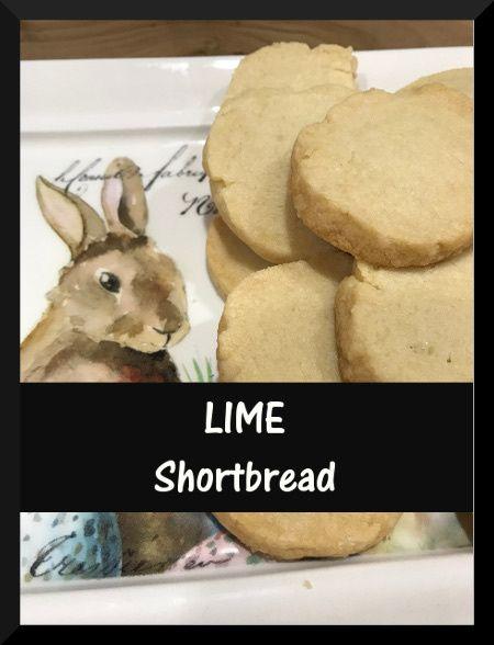 Lime Shortbread on purelyhomespun.com