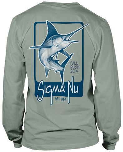 Marlin rush t shirt fraternity tees pinterest for Southern fraternity rush shirts