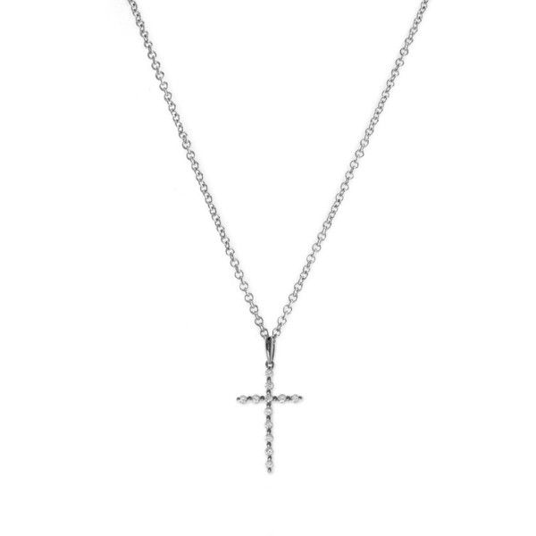 Women's Bony Levy Diamond Cross Pendant Necklace ($595) ❤ liked on Polyvore featuring jewelry, necklaces, white gold, diamond cross pendant, cross pendant necklace, cross necklaces, crucifix pendant and crucifix necklace