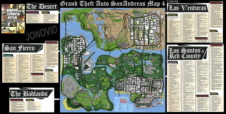 GTA SA MAP With Text 6617 x 3360 .jpeg - Download at 4shared