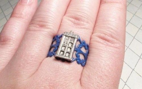 Handmade Silver Tardis Ring