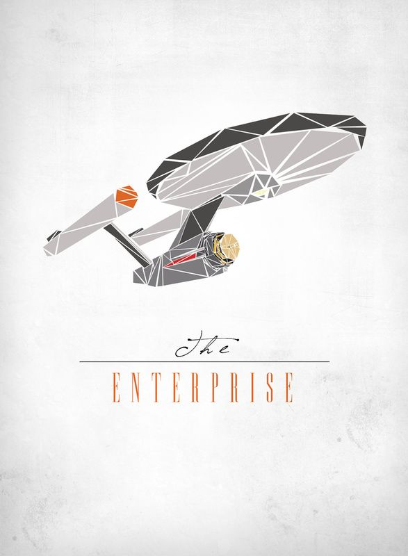 star trek enterprise. Look like cut paper. Maybe i could do a fun project for myself doing something like this.