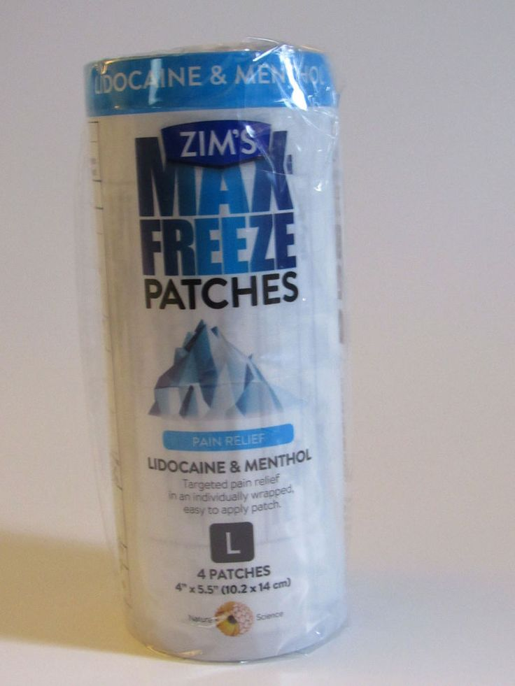 Zims Max Freeze Patches Size Large Lidocaine Menthol Pain Relief 4 Patches New S #Perfectaproducts