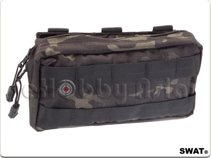 SWAT Cordura Molle Accessory Pouch (Multicam Black)