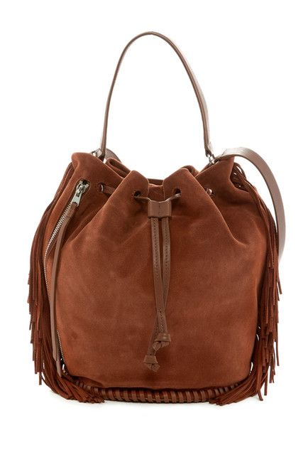 All Saints Club Fringe Bucket Bag