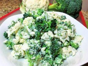 САЛАТ ИЗ БРОККОЛИ И ЦВЕТНОЙ КАПУСТЫ. Мой любимый салат. Broccoli and Cauliflower Salad - YouTube