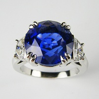 Exquisite unheated Burma sapphire in platinum ring with colorless, vvs diamond half moon sides. 7.89 carat: Moon Diamonds 75 000, Blue Sapphire Rings, Beautiful Gems, Baubles, Gems Beautiful, Half Moon, Beautiful Baubbles