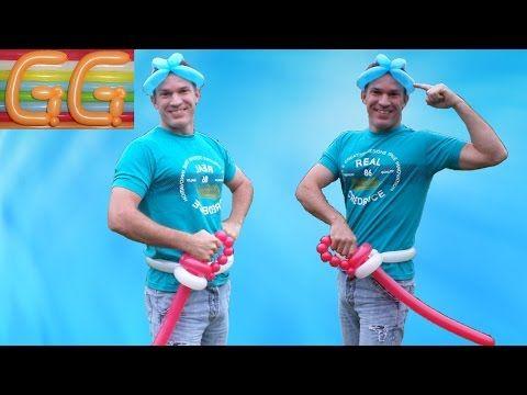 arco y flecha con globos - globoflexia facil - figuras con globos - YouTube
