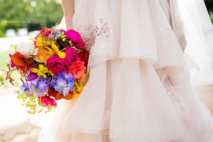 Celebration of colour and love by Flowers in the foyer. Photo by Nikki Meyer