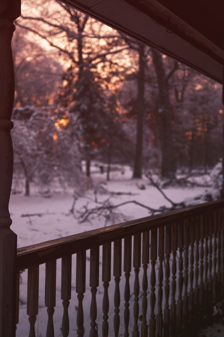 Favorite time of the day.. what a beautiful evening, sunset and snow..