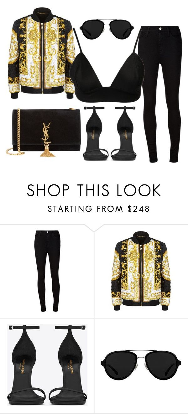 """""""KENDALL JENNER STYLE"""" by iamamaven on Polyvore featuring AG Adriano Goldschmied, Versace, Yves Saint Laurent and 3.1 Phillip Lim"""