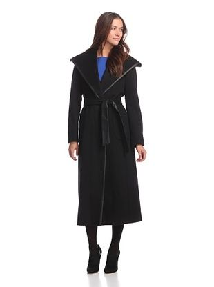 Ellen Tracy Women's Maxi Belted Coat