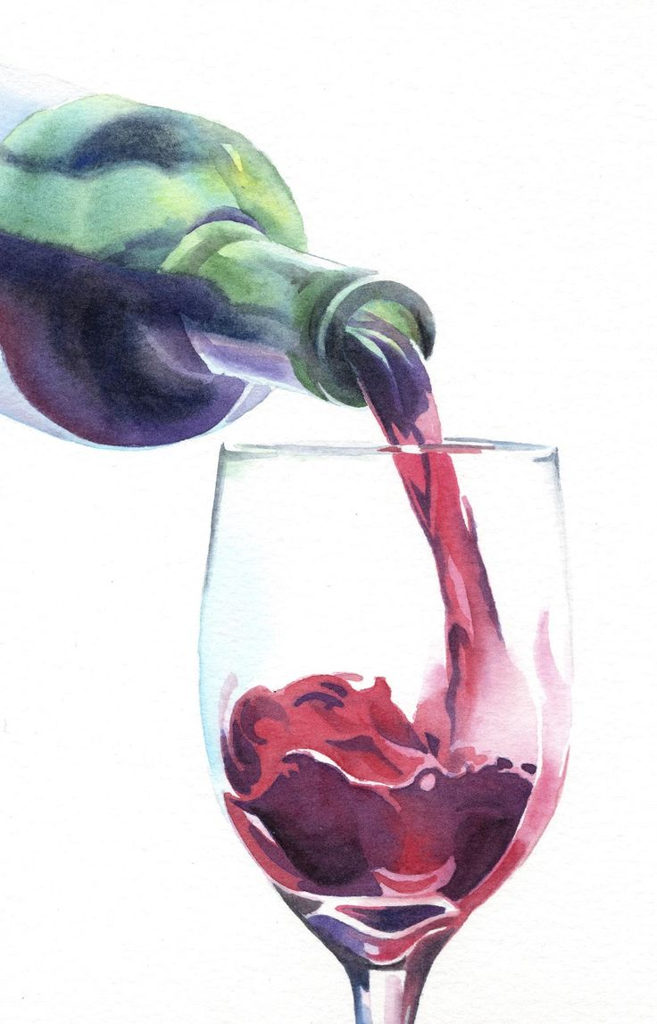 wine and grapes sketch - Google Search